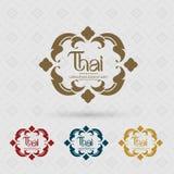 Logotipos tailandeses de las insignias o de los logotipos del arte, identidad Foto de archivo libre de regalías