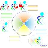 Logotipos y sectores del negocio. Imagen de archivo