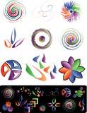 logotwirl vektor illustrationer