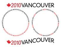 logotyp 2010 vancouver Arkivfoton