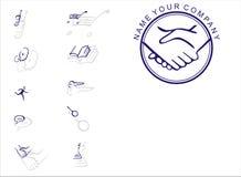 logotyp Fotografering för Bildbyråer