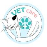 Logotyp dla weterynarz kliniki Obraz Royalty Free