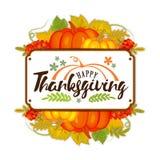 Logotyp, emblem eller symbol för dag för tacksägelse för vattenfärgdesignstil lycklig Lycklig mall för tacksägelsedaglogo Lycklig Arkivfoton