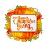 Logotyp, emblem eller symbol för dag för tacksägelse för vattenfärgdesignstil lycklig Lycklig mall för tacksägelsedaglogo Lycklig Royaltyfri Bild