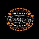 Logotyp, emblem och symbol för dag för tacksägelse för plan designstil lycklig Lycklig mall för tacksägelsedaglogo Fotografering för Bildbyråer