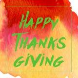 Logotyp, emblem och symbol för dag för tacksägelse för vattenfärgdesignstil lycklig Lycklig mall för tacksägelsedaglogo Tacksägel Arkivfoton