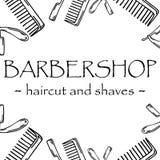 Logotyp för frisersalong royaltyfri illustrationer