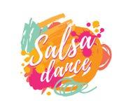 Logotyp för salsapartivektor vektor illustrationer