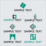 Logotyp kommunikation, företagslogo, konstruktionsföretag Arkivfoton