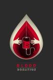 Logotyp krwionośna darowizna royalty ilustracja