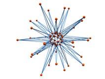 Logotype abstact atom. Logo Blue orange atom as star isolated Royalty Free Stock Photos