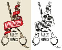 Logotype for barbershop. Hair dresser royalty free illustration