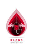 Logotype blood donation Royalty Free Stock Image