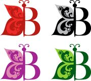 Logotype Butterfly and letter B Stock Photo