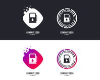 Petrol or Gas station icon. Car fuel sign. Vector. Logotype concept. Petrol or Gas station sign icon. Car fuel symbol. Logo design. Colorful buttons with icons royalty free illustration
