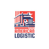 Logotype d'American Logistic Company Images stock