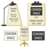 Logotype d'espace de travail de Co Images stock