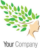 Logotype da árvore da mulher Foto de Stock Royalty Free