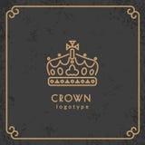 Logotype da coroa Imagens de Stock Royalty Free