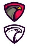 Logotype de Eagle do americano no protetor Foto de Stock Royalty Free