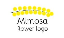 Logotype de fleur de mimosa Photo stock