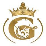 Logotype de G da letra Molde do conceito de projeto do logotipo Fotos de Stock