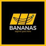 Logotype de glisseur de media de barre oblique de banane Photographie stock