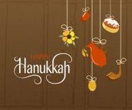 Logotype de Hanoucca, insigne et typographie heureux d'icône Images stock