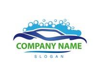Logotype de lave-auto Images libres de droits