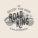 Logotype de moto de vintage de vecteur Rétro logo de motocyclette Conception d'impression d'insigne dans le style plat Éléments p Photos libres de droits