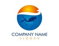 Logotype de plongeur Photographie stock libre de droits
