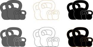 Logotype de présentation pour la formation de kettlebell Images libres de droits