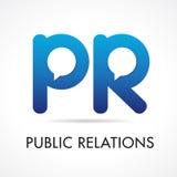 Logotype de société de RP de relations publiques Image stock