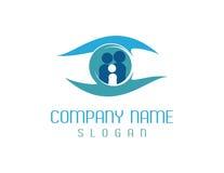 logotype de soin de vision de famille Image stock