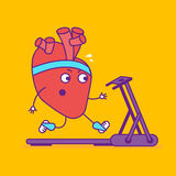 Logotype de sourire heureux de coeur Logo gai de personnage de dessin animé dedans illustration de vecteur