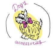Logotype de vecteur avec des animaux Accessoires de chien illustration stock