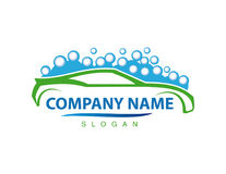 Logotype de vecteur de lave-auto Photographie stock