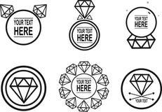 Logotype dei diamanti Fotografia Stock