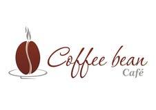 Logotype del chicco di caffè Immagine Stock Libera da Diritti