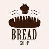 Logotype del forno Forno o elemento d'annata cresciuto di progettazione del negozio Fotografia Stock Libera da Diritti