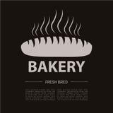 Logotype del forno Forno o elemento d'annata cresciuto di progettazione del negozio Fotografie Stock Libere da Diritti