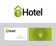 Logotype dell'hotel Fotografia Stock