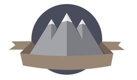 Logotype della montagna Fotografia Stock