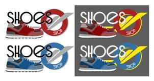 Logotype delle scarpe da tennis Fotografia Stock