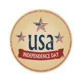 Logotype di U.S.A. di festa dell'indipendenza Fotografie Stock Libere da Diritti