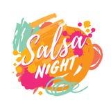 Logotype di vettore del partito della salsa Fotografie Stock