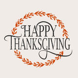 Logotype, distintivo ed icona felici di giorno di ringraziamento Fotografie Stock