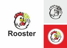 Logotype divertente del gallo Fotografia Stock
