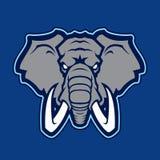 Logotype do elefante da equipe de esporte da faculdade Imagens de Stock Royalty Free
