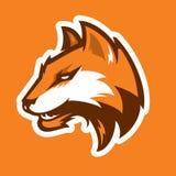 Logotype do esporte da cabeça do Fox Mascote Imagem de Stock